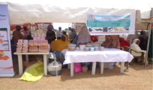 Women groups exhibiting their products. Photo: TA Azeez, ICRISAT