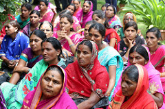 Women farmers at ICRISAT