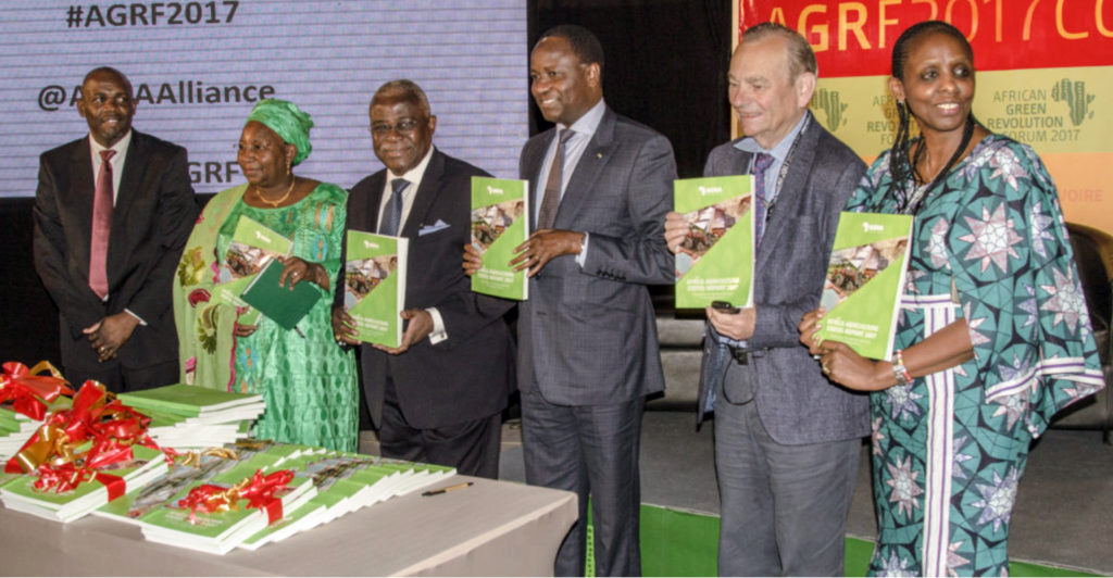 "Launch of the Africa Agriculture Status Report (ASSR) 2017 ""The Business of Smallholder Agriculture in Sub-Saharan Africa"" at AGRF 2017.Photo: AGRF"
