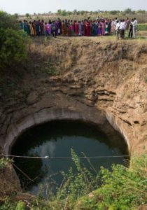 Dug well in the Kothapally watershed work (Srujan Punna, ICRISAT)