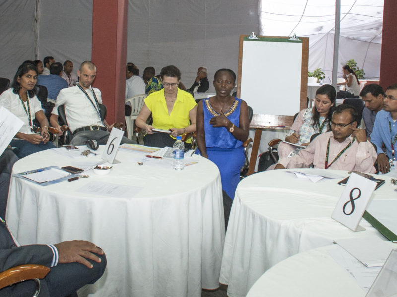 Discussions during the Global Planning Meeting. Photo: PS Rao, ICRISAT