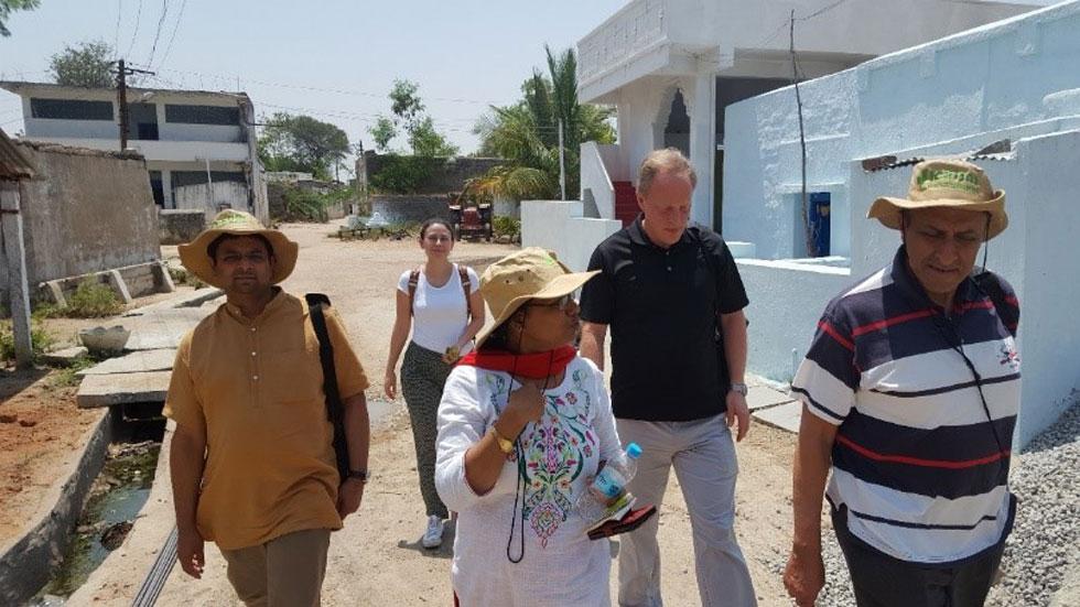 A transect walk in Dokur village. Photo: S Nedumaran, ICRISAT