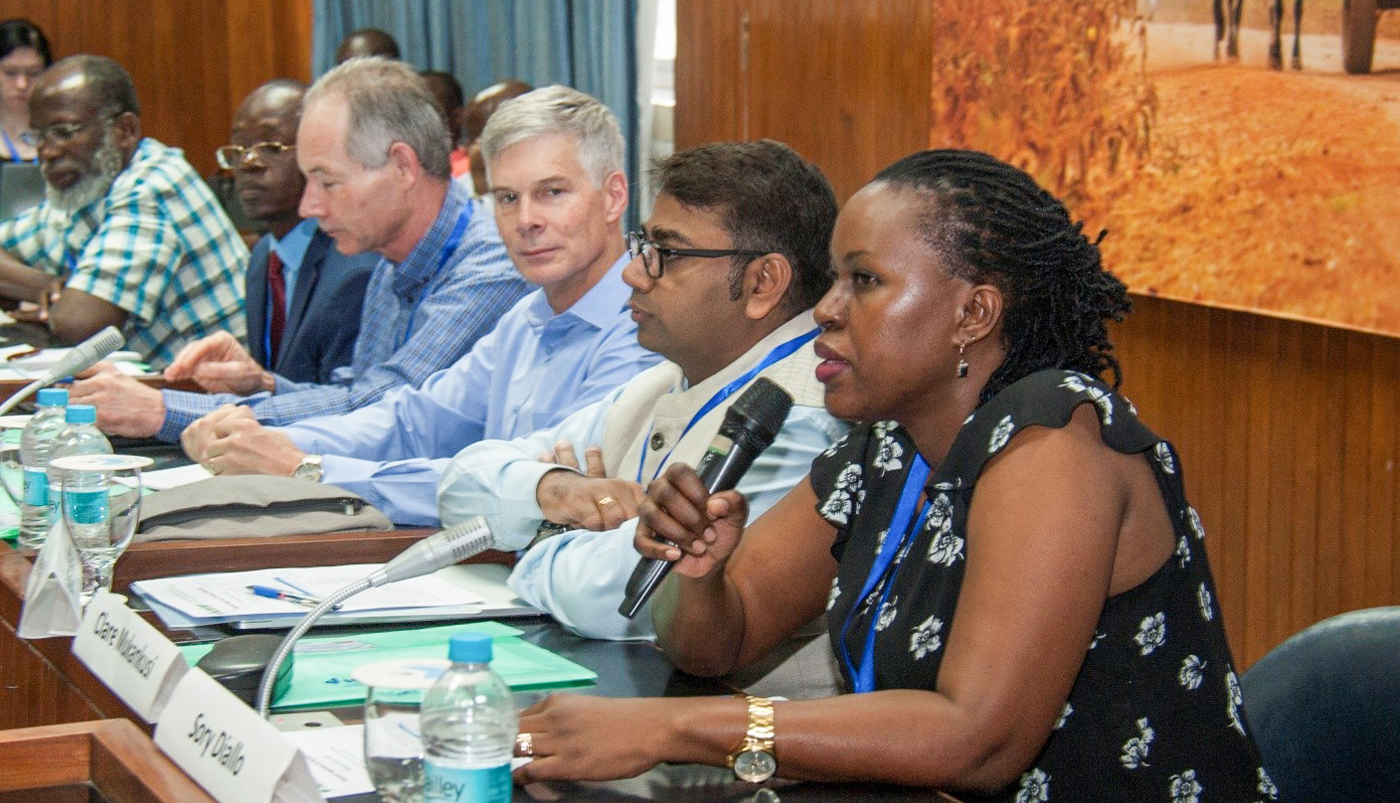 Dr Clare Mukankusi, Plant Breeder, International Center for Tropical Agriculture (CIAT), speaking at the inaugural session. Photo: PS Rao and Anjaiah