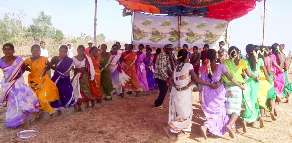Women at Jawhar watershed celebrate economic self-reliance on Women's Day. Photo: Satish Gahukar