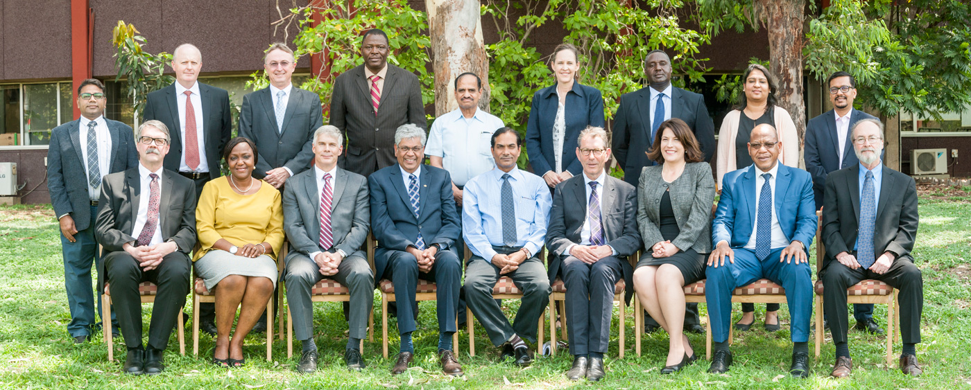 Governing Board members with Management Group. Photo: PS Rao, ICRISAT