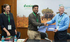 Ms Kane-Potaka and Sridhar Iriventi, Co-founder and Director, GoBhaarati Agro Industries