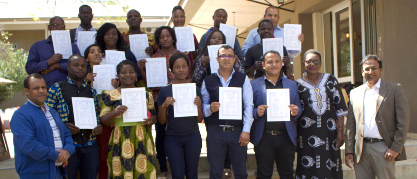 Training course participants with resource persons and organizers at Tsumeb, Namibia. Photo: ICRISAT