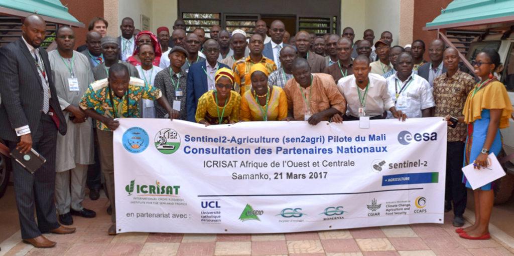 Partenaires Nationaux de Sen2-Agri, ICRISAT Bamako – 21 Mars 2017. Photo: ICRISAT