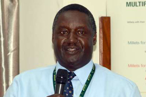 The Director of International Crops Research Institute for the Semi-Arid Tropics (ICRISAT) Moses Siambi. Photo: Francis Mureithi, Nation Media Group