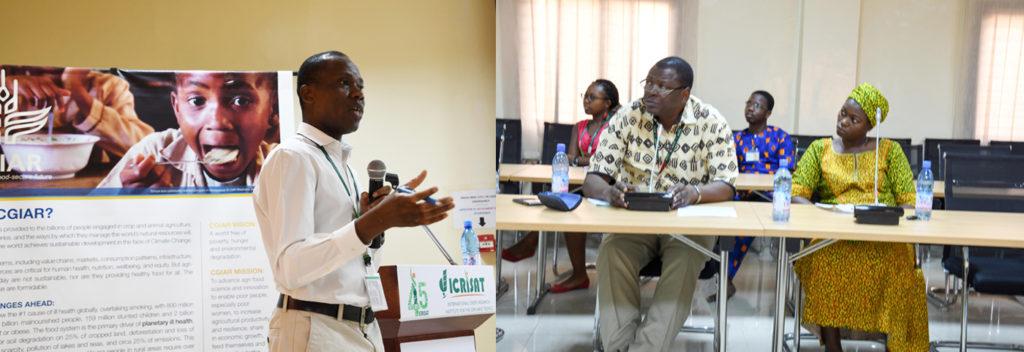 Conférenciers et participants des séminaires institutionnels de l'ICRISAT au Mali en Mars et Avril 2017. Photo: ICRISAT
