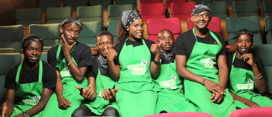 Contestants of the Smart Food cooking show.