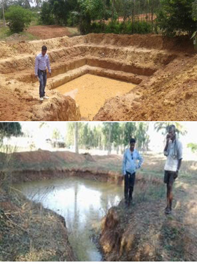 Water harvesting and groundwater recharge structures in Coca-Cola ICRISAT watershed, Kolar, Karnataka