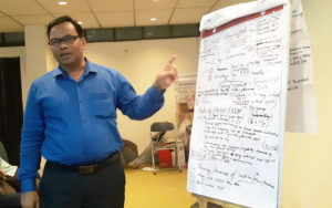 Md Mahatabuddin, COO of PRAN, presenting the work plan for PRAN and ADF. Photo: BARI