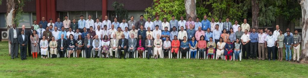 Board Members with Senior Staff at the 82nd Governing Board Meeting at ICRISAT, India.