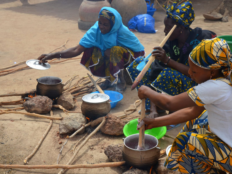 Women trying out a wholegrain recipe in M'Pessoba, Mali. Credit: Jerome Bossuet