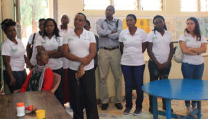 ICRISAT-Nigeria staff at Dr Ribiero Primary School, Nairobi. Photo: EM Njuguna