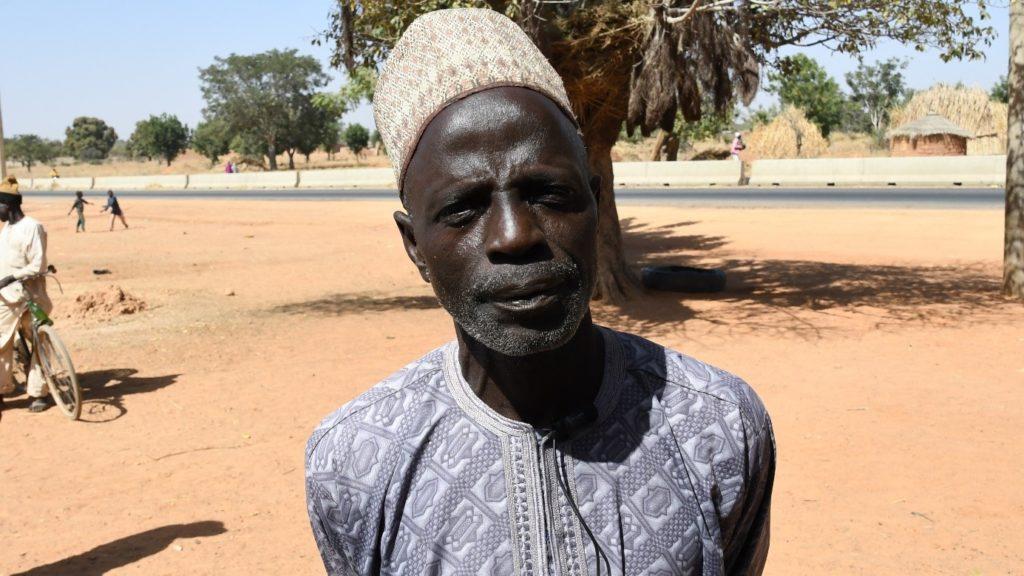 Mr. Sanu Musa, Cowpea producer. Photo: A. Diama