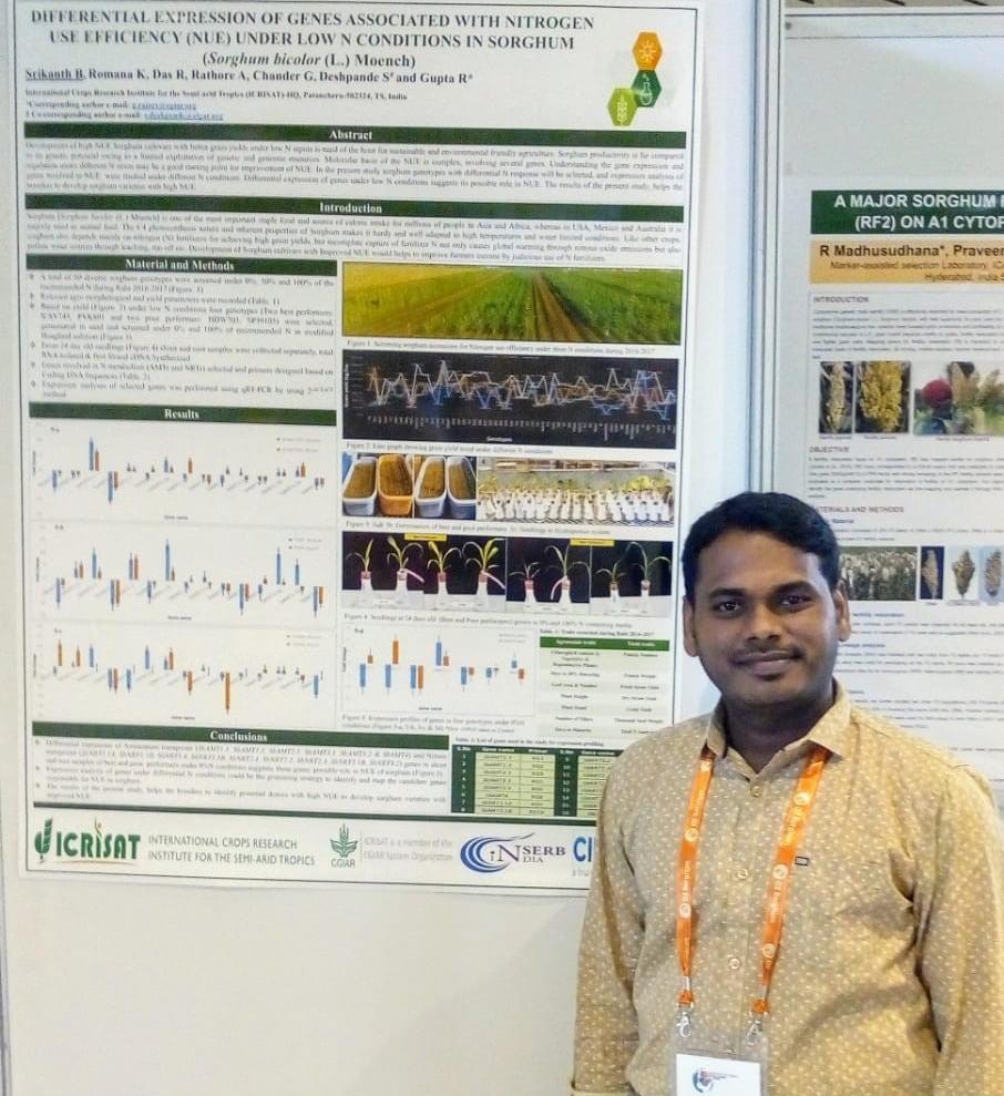 Srikanth B. at the conference. Photo: S. Dattamazumdar
