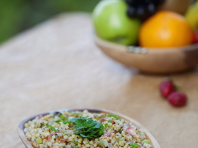 Coarse cereals and preparations such as sorghum salad are now considered trendy. Photo: ICRISAT