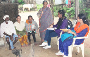Interviewing parents of adolescents Photo: ICRISAT