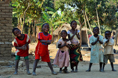 Mchinji children join in the dancing