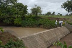 A masonry check dam at Kothapally watershed in Talangana State, India. Photo, ICRISAT