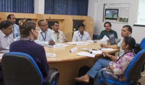 Participants at the knowledge management training program. Photo: PS Rao, ICRISAT