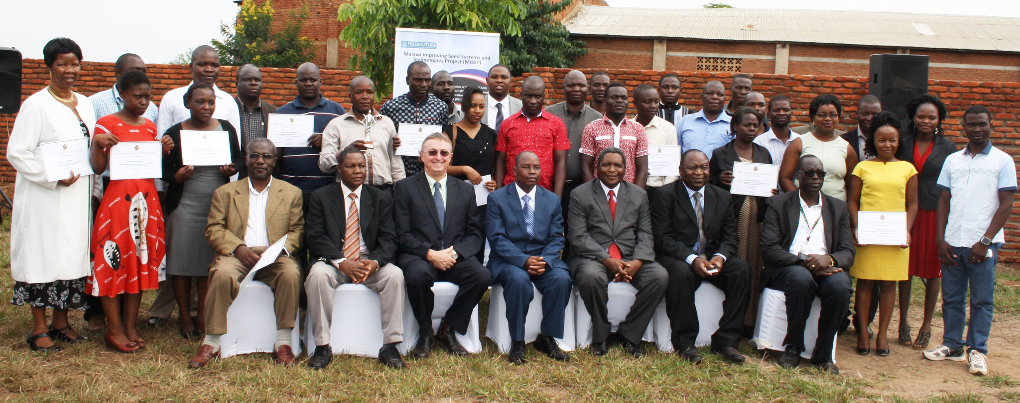 Para seed inspectors at the Graduation ceremony. Photo: L Lazarus, ICRISAT