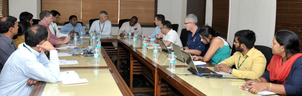 The project launch meeting at ICRISAT headquarters. Photo: PS Rao, ICRISAT