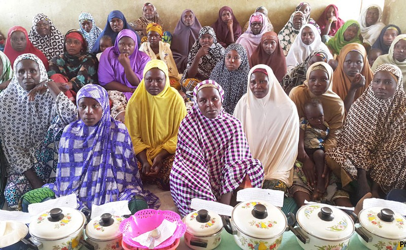 This women's group in Nigeria sells bread, cakes, biscuits and other traditional dishes made from millet, sorghum and groundnut. About 1,200 women from 60 groups were trained on use of sorghum for household utilization and income generation as part of the STVC project.