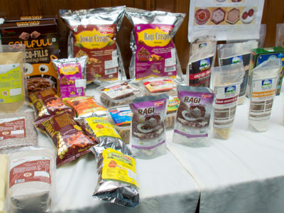 Millet-products-displayed-at-the-workshop Photos: S Punna, ICRISAT