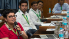 A participant elaborating on a marketing idea. Photo: S Punna, ICRISAT