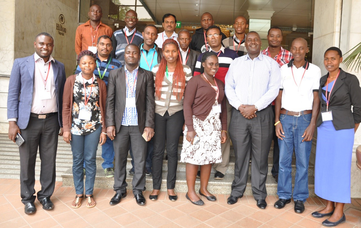 Participants at the breeding management system and data archiving training organized under TL III. Photo: ICRISAT