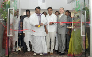 PS Reddy, Telangana Agriculture Minister and KT Rama Rao, Telangana IT Minister inaugurating the ihub.