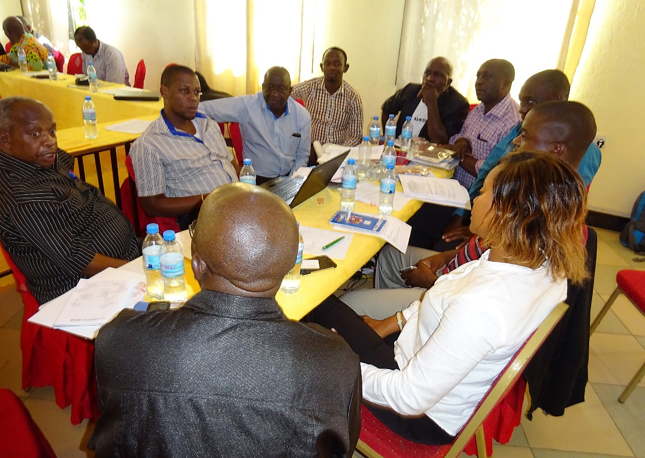 Participants in a group task to define key motivations for seed companies. Photo: Akpo E