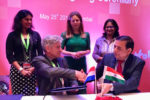 Singing of partnership agreement. Photo: Pooja Bhatnagar-Mathur ICRISAT