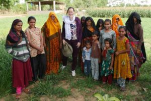 Joanna Kane-Potaka has been working with Indian farmers to boost the country's production of millet crops.