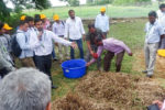 Trainees learning about composting of agri wastes.
