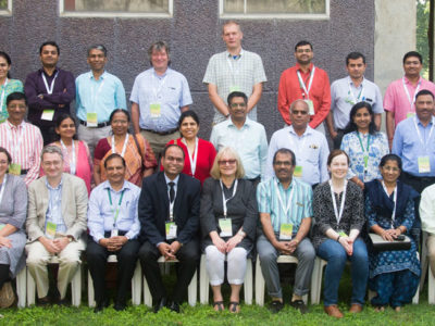 Participants of the review meeting of Indo-UK VJCs on agricultural nitrogen at ICRISAT. Photo: P Srujan