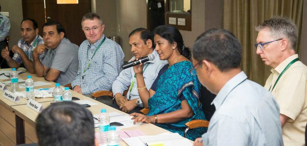 Dr Tara Satyavathi, Coordinator of the All India Coordinated Research Project on pearl millet shares her views. Photo: S Punna, ICRISAT