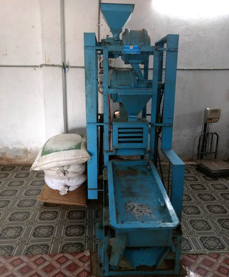 A processing unit was installed in 2015 to do away with the task of manual pounding. (Express Photo by Sajin Saju)