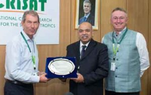 Farewell to Dr Pattanayak. Photo: PS Rao, ICRISAT