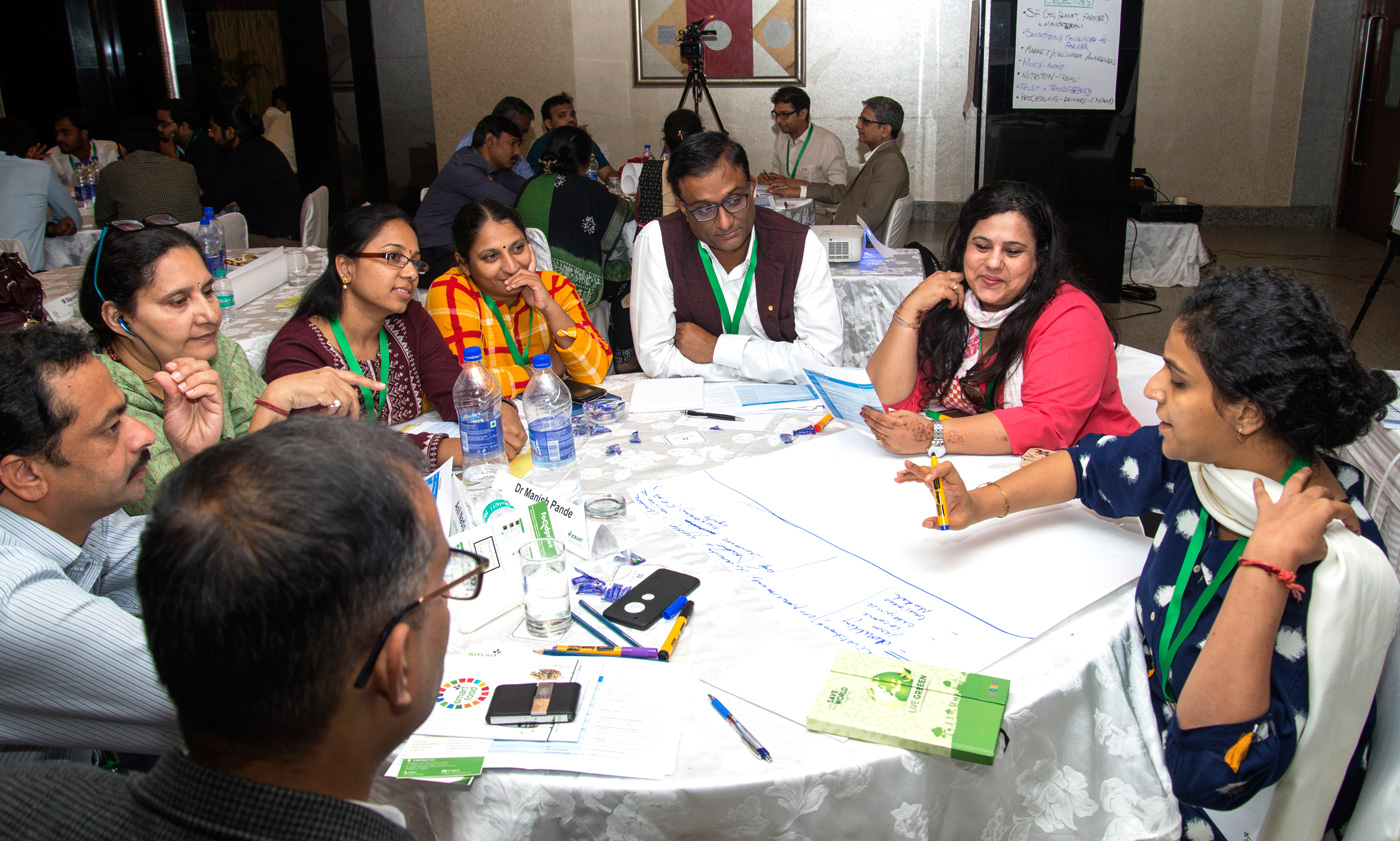 Group discussion in progress. Photo: S Punna, ICRISAT