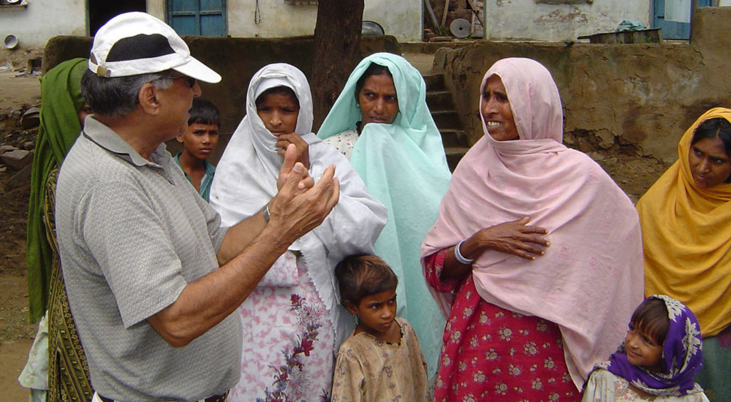 Dr. Sehgal interacting with rural women