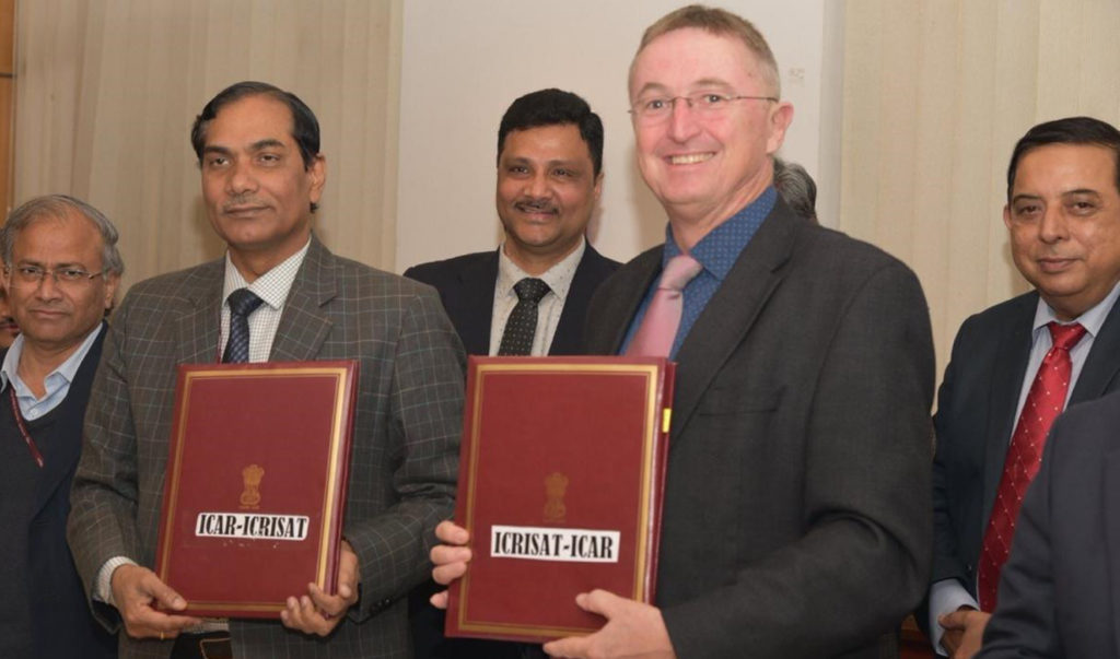 Dr Trilochan Mohapatra (2nd left), and Dr. Peter Carberry (Second right) after the signing. Photo: ICAR