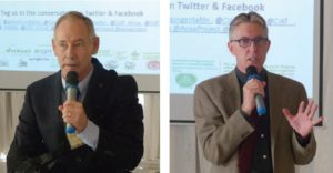 Dr Jeff Ehlers, Program Officer, Gates Foundation and Dr Jan Debaene, Global Head – Breeding, ICRISAT, addressing participants.