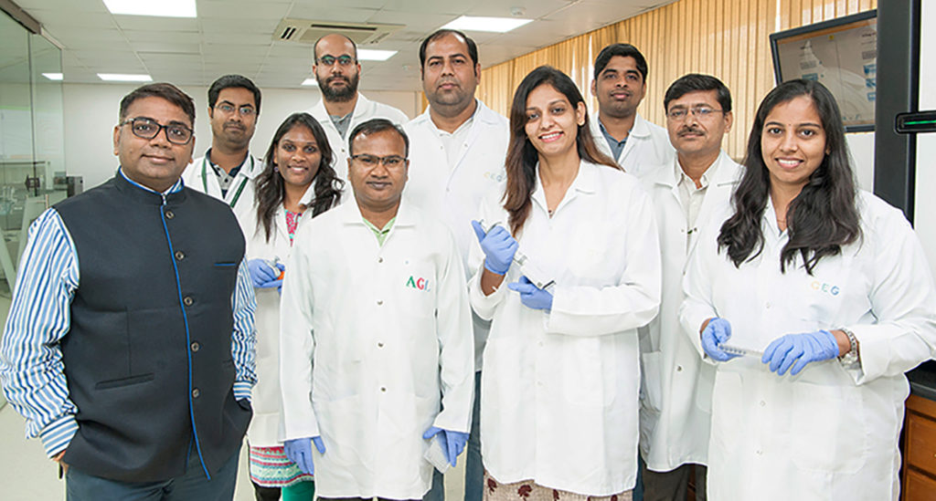Dr. Rajeev Varshney with some members of the sequencing and analysis team at the Center of Excellence in Genomics & Systems Biology, ICRISAT (cegsb.icrisat.org)
