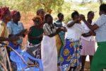 A group of women who are leading a push back to traditional grains dance in Marimanti ward of Kenya's Tharaka Nithi county. Photo: Eleanor Manyasa, ICRISAT