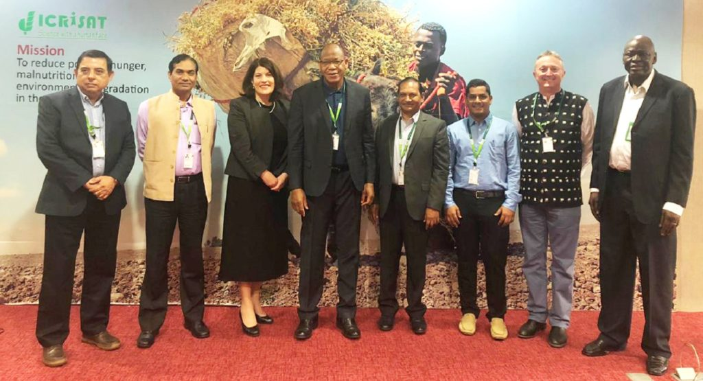 Dr Prakash Gangashetty, Scientist – Pearl Millet Breeding, ICRISAT, was recognized for his high-impact work on pearl millet in West and Central Africa, with the Young Scientist Award. Photo: ICRISAT