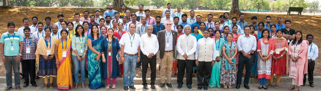 Participants of 14th training course on next generation genomics for crop improvement. Photos: PS Rao, ICRISAT